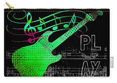 Carry-all Pouch featuring the digital art Play 3 by Guitar Wacky