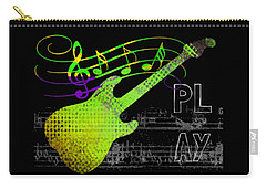 Carry-all Pouch featuring the digital art Play 1 by Guitar Wacky