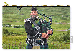 Playing Bagpiper Carry-all Pouch
