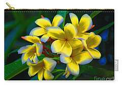 Carry-all Pouch featuring the photograph 1- Plumeria Perfection by Joseph Keane