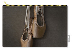 Carry-all Pouch featuring the photograph Sacred Pointe Shoes by Laura Fasulo