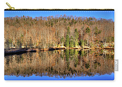 Carry-all Pouch featuring the photograph Pond Reflections by David Patterson