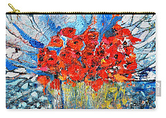 Carry-all Pouch featuring the painting Poppies by Evelina Popilian