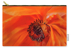 Poppy Detail Carry-all Pouch by Garry McMichael