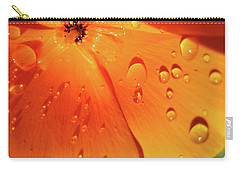 Carry-all Pouch featuring the photograph Poppy  by Kathy Bassett