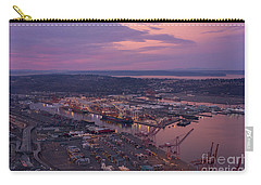 Port Of Seattle Sunrise Carry-all Pouch by Mike Reid
