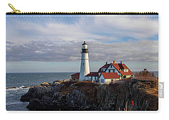 Carry-all Pouch featuring the photograph Portland Head Light by Trace Kittrell