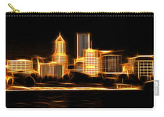Carry-all Pouch featuring the photograph Portland Oregon Skyline  by Aaron Berg