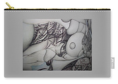 Carry-all Pouch featuring the tapestry - textile Post Modern Woman  An Ongoing Series by Jack Dillhunt