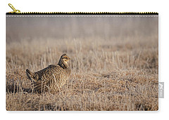 Carry-all Pouch featuring the photograph Prairie Chicken 8-2015 by Thomas Young