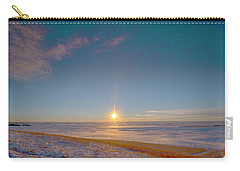 Prairie Winter Sunset Carry-all Pouch