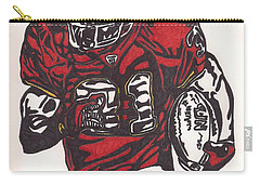 Carry-all Pouch featuring the drawing Priest Holmes 2 by Jeremiah Colley