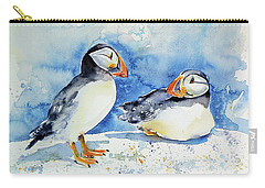 Puffins Carry-all Pouch by Kovacs Anna Brigitta