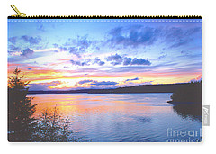 Puget Sound Sunset Carry-all Pouch by Sean Griffin