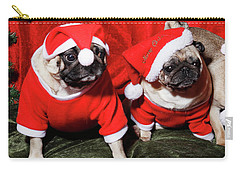 Pugs Dressed As Father Christmas Carry-all Pouch