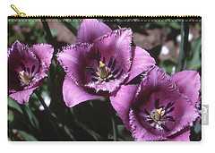 Purple Flowers Two  Carry-all Pouch