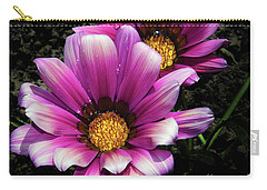 Carry-all Pouch featuring the photograph Purple Gazania by Elvira Ladocki