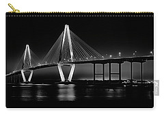 Carry-all Pouch featuring the photograph Ravenel Bridge by Bill Barber