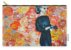 Carry-all Pouch featuring the painting Ready To Love by Maria Langgle