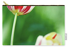 Red And White Tulips Carry-all Pouch