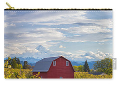 Carry-all Pouch featuring the photograph Red Barn And Mt Hood by Patricia Davidson