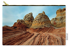 Carry-all Pouch featuring the photograph Red Desert Lines by Mike Dawson