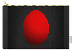 Red Egg On Black Canvas  Carry-all Pouch
