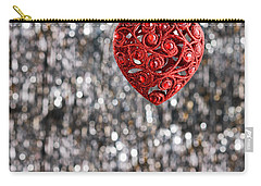 Carry-all Pouch featuring the photograph Red Heart by Ulrich Schade
