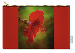 Red Hibiscus Art Carry-all Pouch