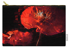 Carry-all Pouch featuring the digital art Two Red Poppies by Kirt Tisdale