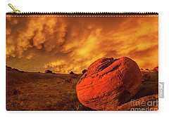 Red Rock Coulee Sunset 3 Carry-all Pouch