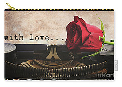 Red Rose On Typewriter Carry-all Pouch
