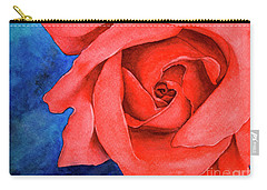 Red Rose Carry-all Pouch by Rebecca Davis