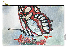 Carry-all Pouch featuring the painting Red by Sam Sidders