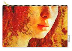 Carry-all Pouch featuring the digital art Redhead by Gun Legler