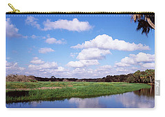 Reflection Of Clouds In A River, Myakka Carry-all Pouch by Panoramic Images