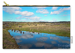 Carry-all Pouch featuring the photograph Reflections Of Spring by Mike Dawson