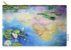 Reflections On A Waterlily Pond Carry-all Pouch