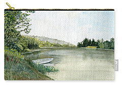 Carry-all Pouch featuring the painting River Light by Melly Terpening