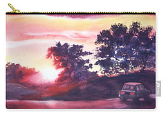 Road To Fargo Carry-all Pouch by Marilyn Jacobson