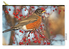 Carry-all Pouch featuring the photograph Robin.. by Nina Stavlund