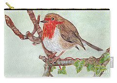 Robin Redbreast Carry-all Pouch by Veronica Rickard