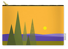 Rolling Hills Carry-all Pouch by Val Arie