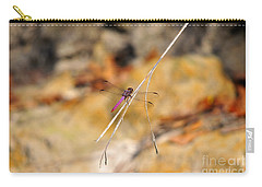 Carry-all Pouch featuring the photograph Fuchsia Fly by Al Powell Photography USA