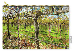 Rows Of Grapevines In Napa Valley Caliofnia Carry-all Pouch