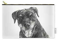 Carry-all Pouch featuring the drawing Ruby  by Meagan  Visser