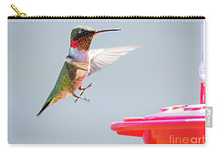 Carry-all Pouch featuring the photograph Ruby-throated Hummingbird  by Ricky L Jones