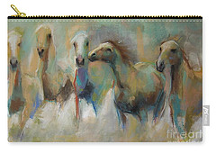 Running With The Palominos Carry-all Pouch by Frances Marino