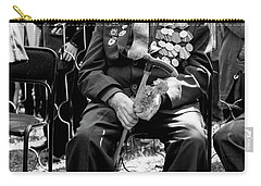 Carry-all Pouch featuring the photograph Russian World War II Veteran Tank Commander by John Williams