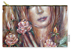 Sad Venus In A Rose Garden 060609 Carry-all Pouch